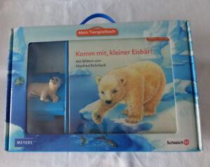Schleich-Mein-Tierspielbuch-Komm-mit-kleiner-Eisbaer-Pappbuch-mit-Figur-OVP