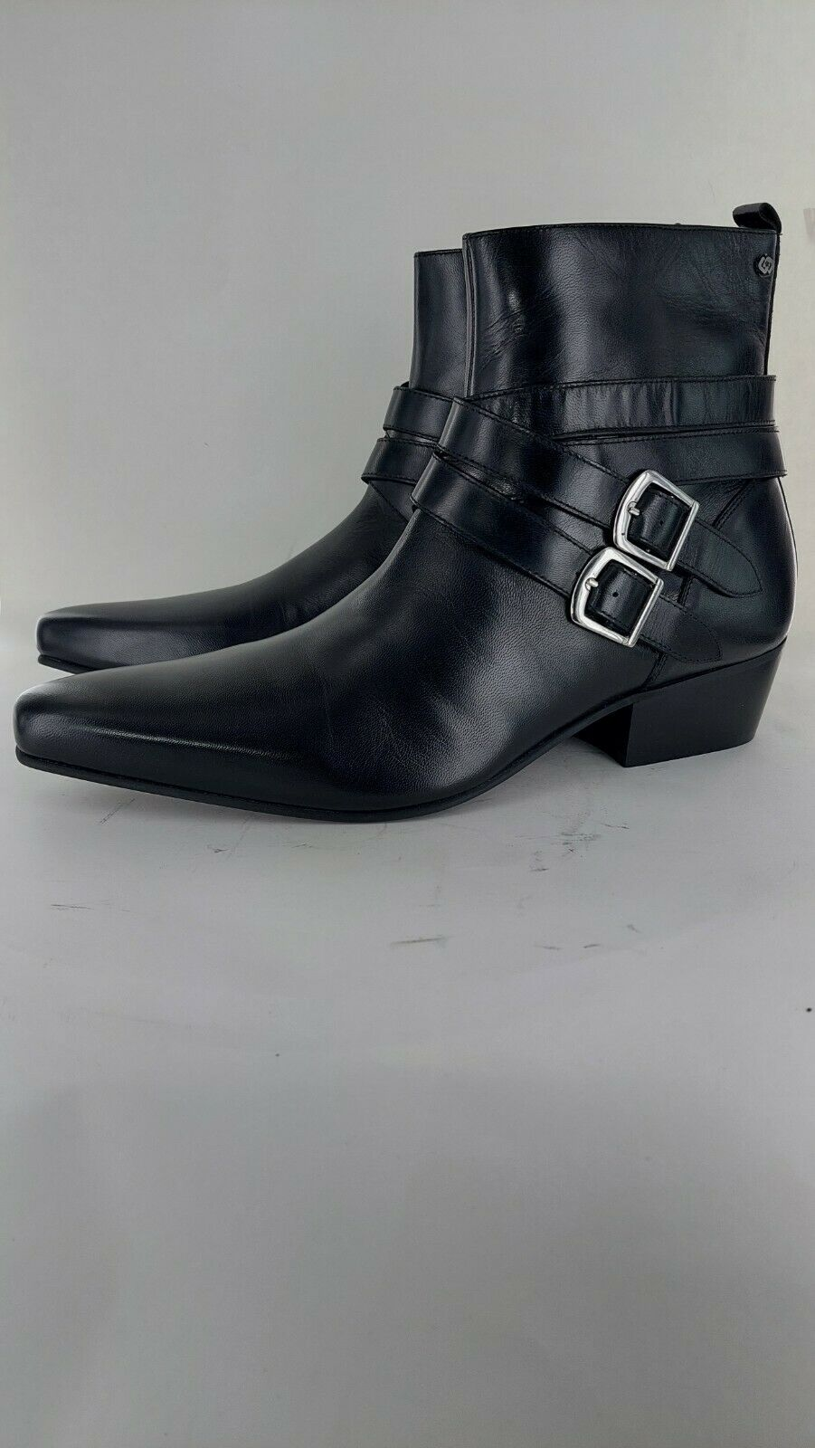 Club Cubano RODRIGO Mens Cuban Heel Pointed Beatles Boots Black Uk9#766