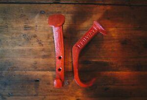 """Cast Iron Heavy Railway Spike Style Coat Hook/hanger/double/a/voies Ferrées/red-uble/hat/railroad/red"""" Data-mtsrclang=""""fr-fr"""" Href=""""#"""" Onclick=""""return False;"""">afficher Le Titre D'origine 9souuii3-07155301-559817896"""