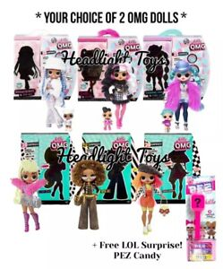 Details About Choose 2 Lol Surprise Omg Dolls Series 1 Snowlicious Dollie Cosmic Bee Diva Neon