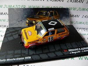 voiture-1-43-IXO-Altaya-Rallye-RENAULT-5-ALPINE-J-RAGNOTTI-Monte-Carlo-1978
