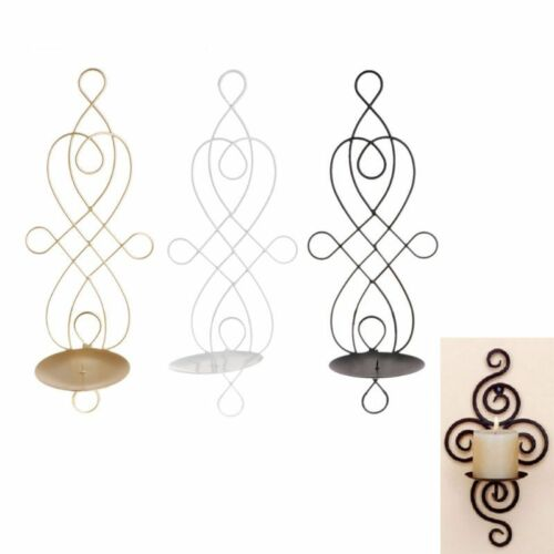 Metal Iron Candlestick Hanging Wall Sconce Candle Holder Home Ornaments