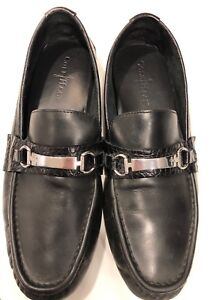 5986a14e274 Cole Haan Men s C11397 Somerset Bit II Black Leather Croc Moc Bit ...