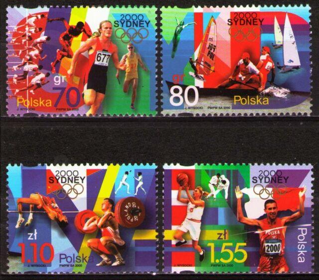 Poland 2000 Sc3544-47Mi3854-57 3.20 MiEu 4v mnh 2000 Summer Olympics, Sydney