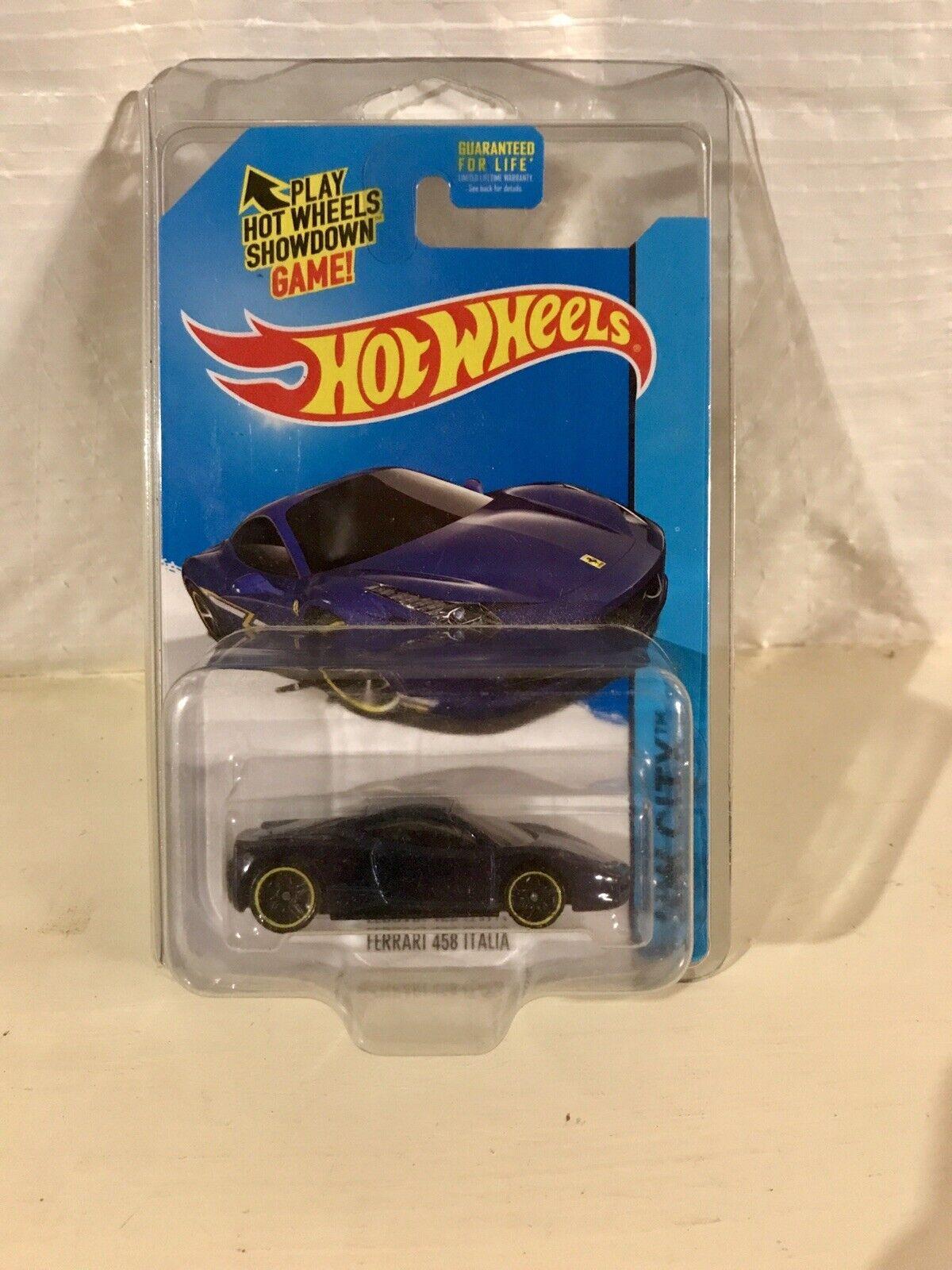 Hotwtalons Ferrari 1 64 458  Italia Bleu hommequant tampo RARE Prougeecto Difficile à trouver Mattel  prix de gros
