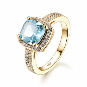 8mm-Aquamarine-Light-Blue-Sapphire-Gold-Filled-Women-Lady-Wedding-Rings-Jewelry