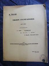 Partitura Tres Fantasías para Piano Adán Verdi Rimsky Music Sheet