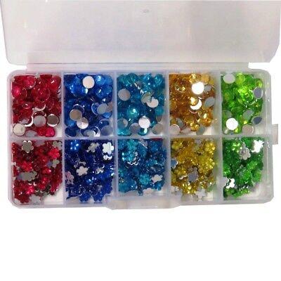 350 x 3mm SPARKLING Clear Stick On Diamante Gems Rhinestones CHRISTMAS SPARKLE