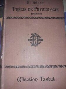 Precis-de-physiologie-8eme-edition-E-Hedon-1921-Dedicace-et-Autographe