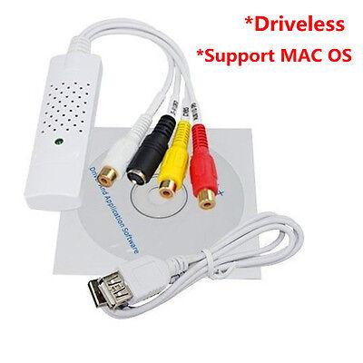 Easycap USB2.0 Video DVD VHS Audio Capture Adapter for Win7/8 XP Vista MAC OS