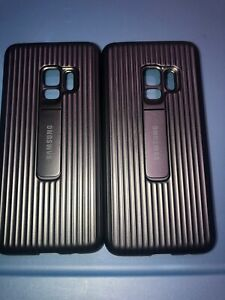 Lot-Of-2pc-Original-Samsung-Galaxy-S9-Rugged-Protective-with-Kickstand-Case