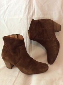Russell-amp-Bromley-Brown-Ankle-Suede-Boots-Size-38
