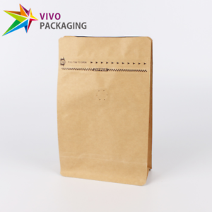 Image Is Loading Kraft Paper Box Bottom Coffee Pouch