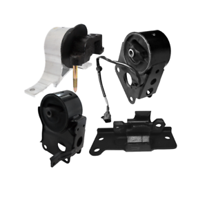 Front Rear Engine Mount Set of 3 for 2004 2005 2006 Nissan Maxima 3.5L Automatic Transmission