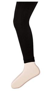 Jefferies-Socks-Little-Girls-039-Fleece-Lined-Footless-Tight-Black-4-6-Years