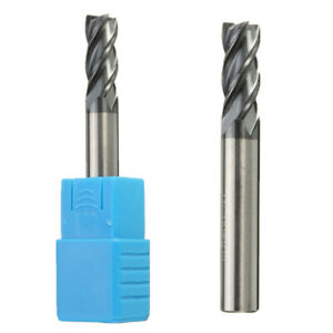 HRC65 4mm Tungsten Carbide End Mill 4 Flute Milling Cutter CNC-Tool D4*10*50mm