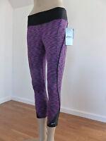 Asics Women Leggings Capri Purple Space dye Athletic Yoga S M & L NWT $54.