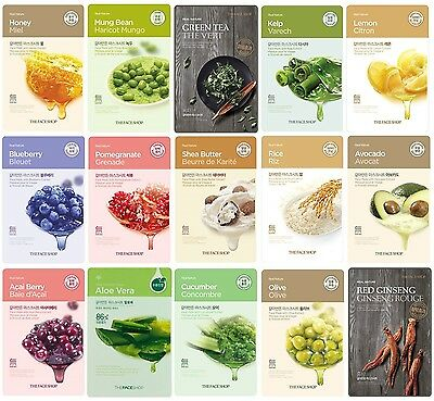 The Face Shop Real Nature Mask Sheet 8/15EA Moist Essence Korean Skin Care Pack