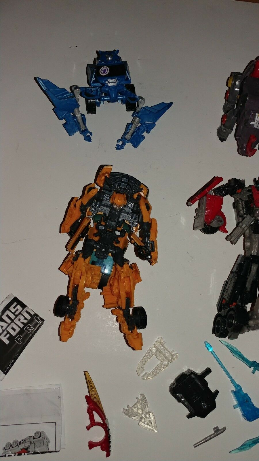 Mixed Lot of 7 Transformers Transformers Transformers Complete & Incomplete Vintage Modern + Accessories 6d2028
