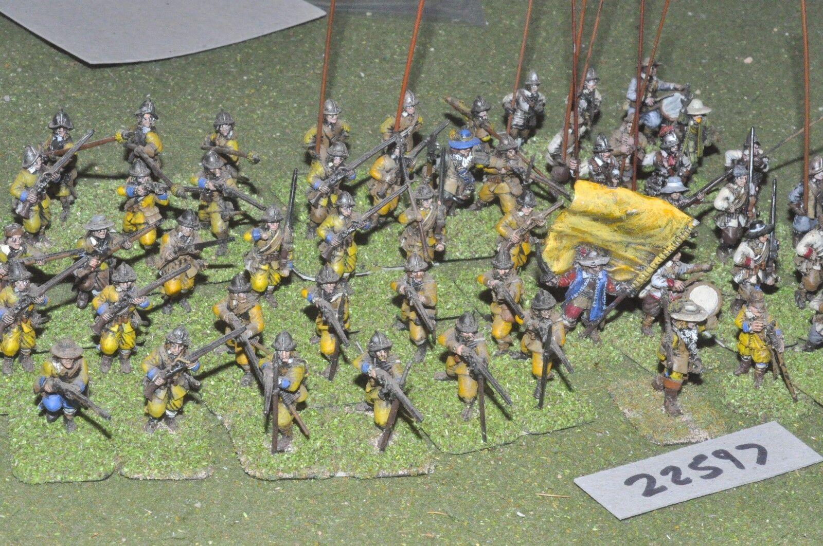 25mm Ecw inglés-Guerra Civil Pike & Shot algunos plástico 56 figuras-INF (22597)