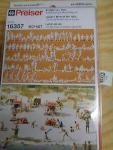 H0-Preiser-16357-Loisirs-au-See-120-Non-Peintes-Miniaturfiguren