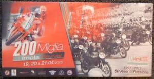 """2013 200 Miglia 60 year anniversary participant ceramic tile 8"""" X 16"""" BRAND NEW!"""