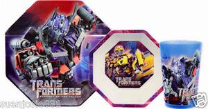 Transformers Revenge of the Fallen Mealtime Dinnerware Meal Set 3pcs by ZAK