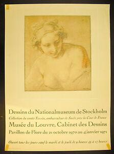 Affiche Exposition Dessins Du National Museum De Stockholm Musée Du Louvre 1971