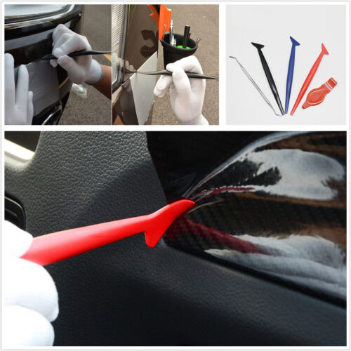 5 Pcs Car Window Body Vinyl Wrap Gasket Micro Squeegee Edge Corner Trim Tool Kit