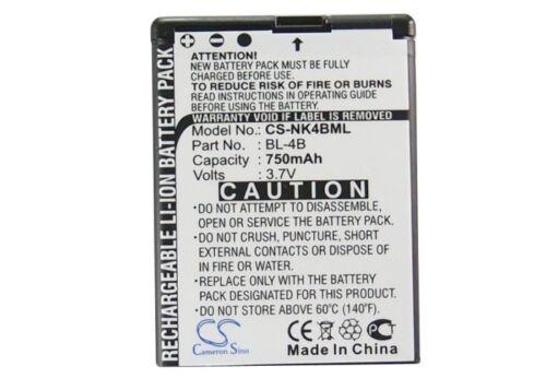 Batería Li-ion Para Nokia 7370 7500 6111 5000 n76n New Premium calidad