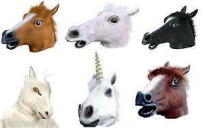 NEW-ADULT-HORSE-LATEX-RUBBER-FULL-OVERHEAD-FANCY-DRESS-COSTUME-ANIMAL-PONY-MASK