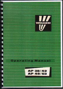 welger ap 38 42 ap 48 53 baler operator instruction manual book ebay rh ebay co uk AP-42 Boiler EPA AP-42 Emission Factors