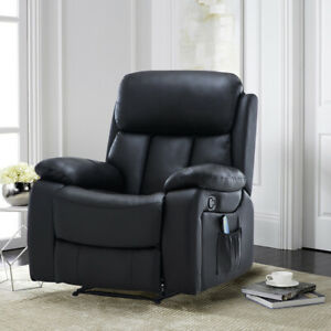 Sensational Details About Recliner Massage Armchair Luxury Leather Sofa Electric Heated Chair Cinema Game Bralicious Painted Fabric Chair Ideas Braliciousco