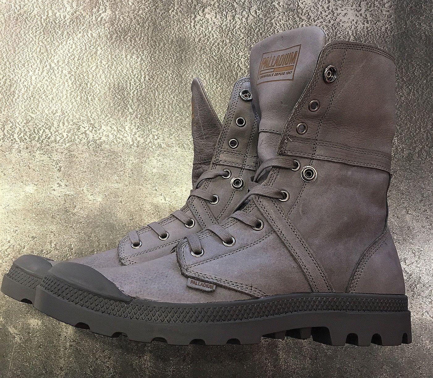 Palladium zapatos botas  pallabrouse baggy  cuero FB. French metal