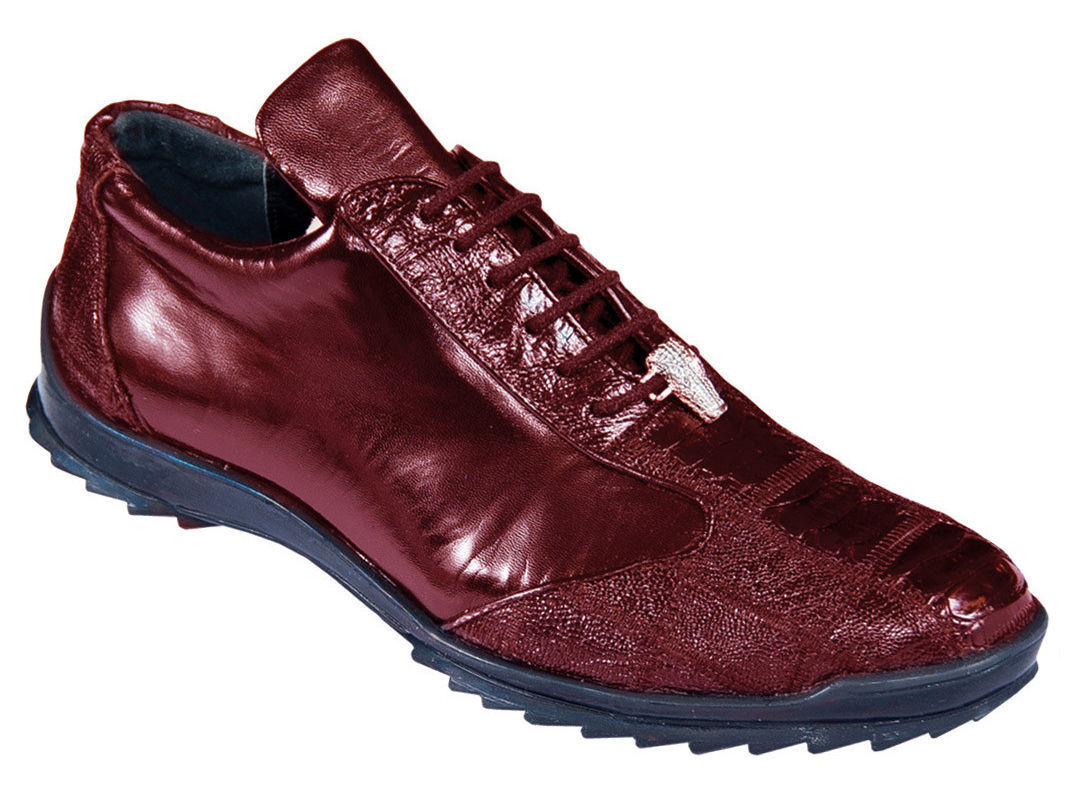 Los Altos Genuine BURGUNDY Ostrich Leg Casual shoes Lace Up Handmade Sneaker EE