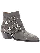 CHLOÉ - CHLOE Grey Boots Gold Embellished Studded Susanna Suzanna Boots EUR 40