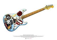 Billie-Joe Armstrong's Fernandes Stratocaster 'Blue' ART POSTER A2 size
