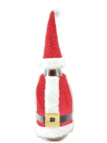 Santa Suit Christmas Wine Champagne Bottle Cover Party Gift Bag Table Decoration