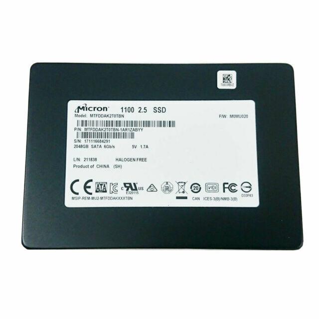 """Micron 2TB 3D NAND SSD 2.5/"""" SATA Solid State Drive MTFDDAK2T0TBN-1AR1ZABYY NEW"""