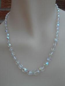 Vintage 1950s Sparkly Aurora Borealis Single Strand Necklace #SAB6