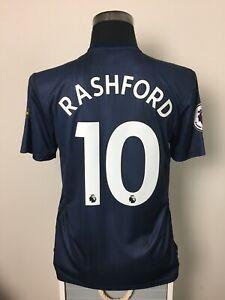 buy online f4d9e 8ddc1 Details about RASHFORD #10 BNWT Manchester United Third Football Shirt  Jersey 2018/19 (M)