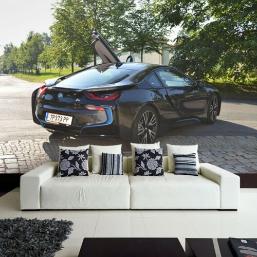 Neu moderne Tapete Vlies Fototapete Auto Car Sportwagen BMW 8i Super Sport Autos