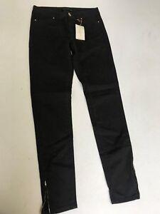 cb2f13b9 ZARA Skinny Leg Jeans with Ankle Zip Detail in Dark Brown L28 (za9 ...
