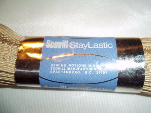 Briefs Vintage Scovill StayLastic ELASTIC for lingerie Panties ~ Beige