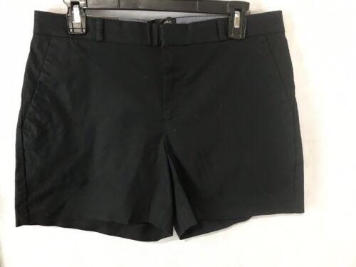 "Banana Republic 5/"" Shorts NEW Black Mid Rise Straight Hip Thigh Stretch MSRP $40"