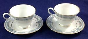 Oxford-FONTAINE-Lenox-2-Cup-amp-Saucer-Sets-GREAT-CONDITION