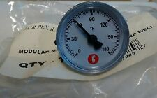 """LOT OF 2! 1 1/2"""" Thermometer 180 Degree 1"""" NPT NEW"""