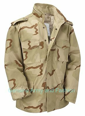 M65 US FIELD JACKET QUILT LINER VINTAGE MILITARY ARMY COMBAT COAT US TRI DESERT