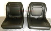 2 18 Black Vinyl Seats For John Deere Gator 4x4 4x2 4x6 Vg12160 Utv M-gator A1