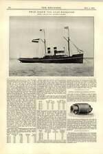 1892 Twins Screw Tugboat Noordzee Smit Zoon Bickles Adjustable Nut